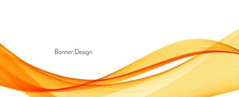 abstrakt modern dynamisk snygg röd och gul dekorativt mönster våg banner bakgrund vektor