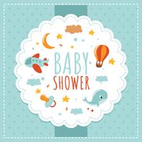 Baby Shower Bakgrunder vektor