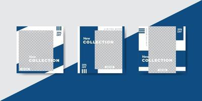 blå ocean mode sociala medier post banner mall vektor