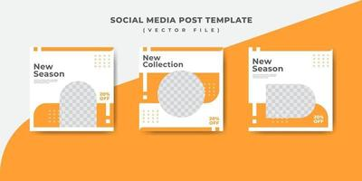 orange mode sociala medier post banner mall vektor