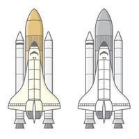 flache Illustration des Raketenvektors vektor