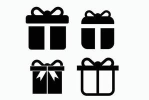 presentförpackningsikon. nuvarande symbol. julask. vektor