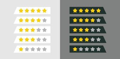 Fünf-Sterne-Bewertung Zusammensetzung vektor