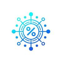 Zinseszins-Vektor-Symbol auf Weiß