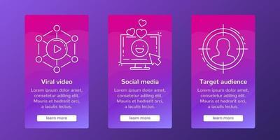 internet marknadsföringsbanderoller för sociala medier