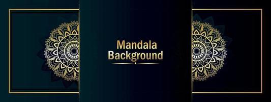 arabischer Musterart-Mandalahintergrund und -fahne vektor