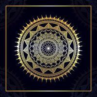 goldenes arabisches Muster des Mandala-Entwurfs vektor