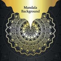 Luxus-Mandala-Design-Vorlage vektor