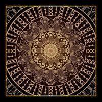 Mandal Hintergrund mit goldenem Mandala vektor