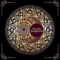 Mandala Hintergrund mit goldenem Muster vektor
