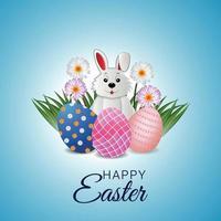 glückliche Ostergrußkarte