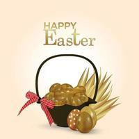 glückliche Ostergrußkarte und Hintergrund vektor