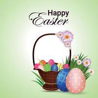 glad påsk gratulationskort och bakgrund