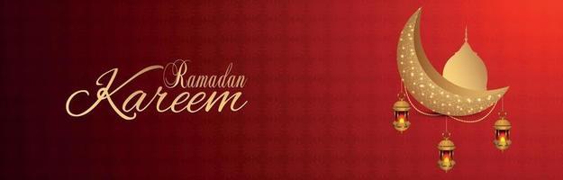 ramadan kareem islamisk festival fest och bakgrund vektor