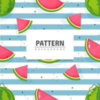 nahtloses Wassermelonenfruchtmusterdesign vektor