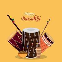 kreativt designkoncept av glad baisakhi
