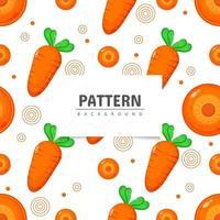 nahtloses Muster mit Karottengemüsehintergrund vektor