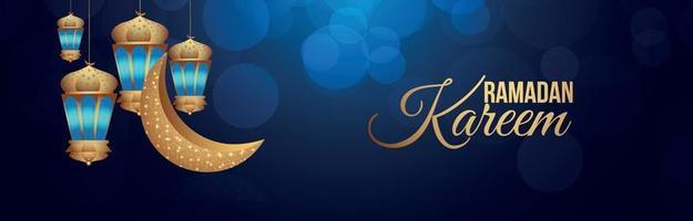 Ramadan Kareem oder Eid Mubarak Banner oder Header vektor