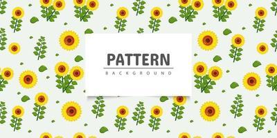 nahtloses Sonnenblumenmusterdesign vektor