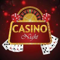 online casino med spelautomat och spelkort poker vektor