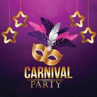 Karnevalspartyhintergrund mit kreativer Maske vektor