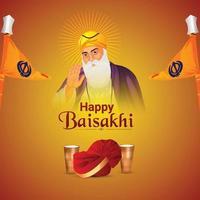 realistisk illustration av glad baisakhi bakgrund vektor