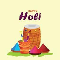 Happy Holi Flat Design-Konzept vektor