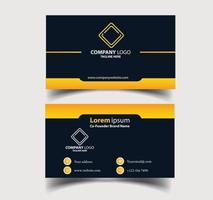 visitkort - kreativ och ren visitkortsmall. vektor