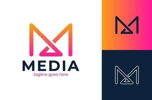 m första brev logotyp designmall - vektor. abstrakt brev mw logo design. linje kreativ symbol. universell vektor ikon. takmontering läger skylt.