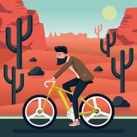 Ridning en cykel illustration vektor