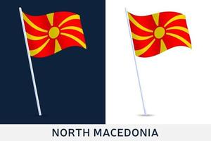 norra Makedonien vågflagga vektor