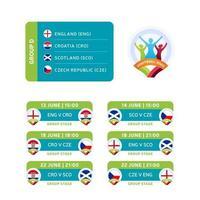 fotboll 2020 grupp d vektor