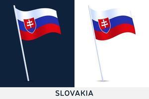 Slovakien vågflagga vektor