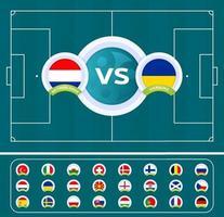 Fußball 2020 gegen Nationalmannschaft vektor