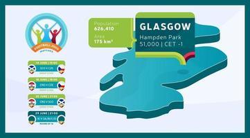 Glasgow Stadium fotboll 2020 vektor
