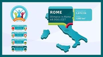 Rom Stadion isometrischen Fußball 2020 vektor