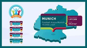 Münchner Stadion Fußball 2020 vektor