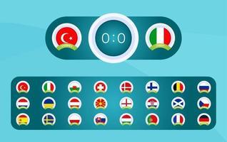 Anzeigetafel Fußball 2020 vektor