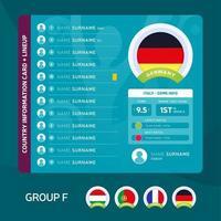 Gruppe f Fußball 2020 vektor