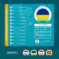 ukraine Fußball 2020 Gruppe vektor