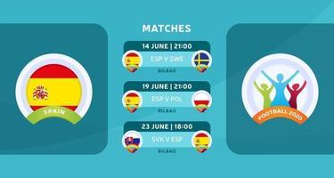 Spanien Spiele Fußball 2020 vektor