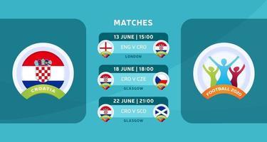 Kroatien Fußball 2020 vektor