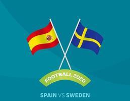 Spanien vs sverige fotboll vektor
