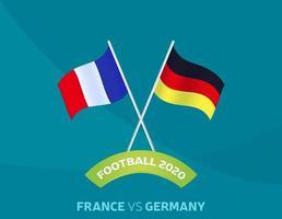 Frankreich gegen Deutschland Fußball vektor