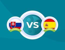 Slovakien vs Spanien fotboll vektor