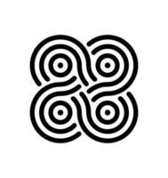 Drohnen-Unendlichkeitssymbol vektor