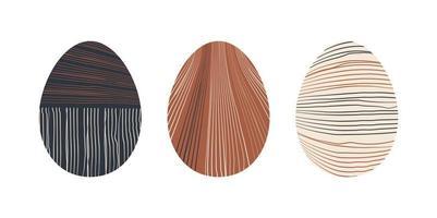 uppsättning av minimalistiska geometriska påskägg med geometriska formelement. modern boho samtida kreativ trendig abstrakt mallar vektorillustration. vektor