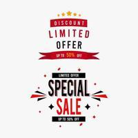 begränsat erbjudande försäljning banner set vektor
