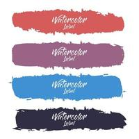 elegant akvarell etikett samling vektor