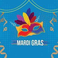 karneval platt design koncept bakgrund